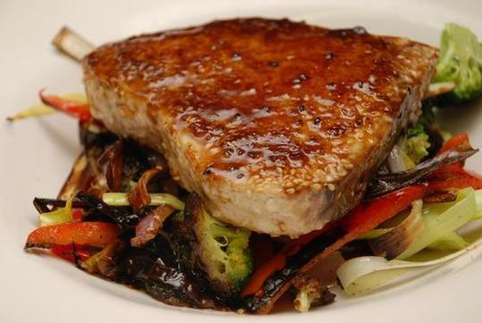 Sesame Encrusted Swordfish (Stop by for our Friday Night Seafood Specials)